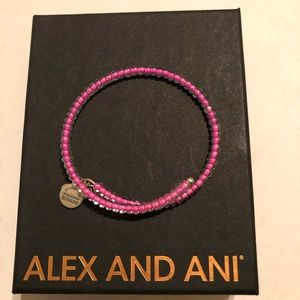 Alex and Ani Bubblegum Pink Wrap Bracelet